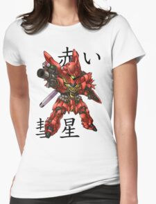 The Red Comet Womens Fitted T-Shirt