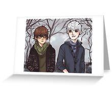 Winter walk Greeting Card