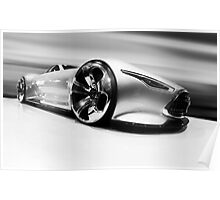 Mercedez Benz Amg Vision Gran Turismo Black and White Poster