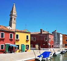 The Leaning Tower of Burano by Jane Ruttkayova
