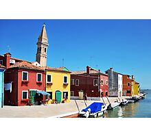 The Leaning Tower of Burano Photographic Print