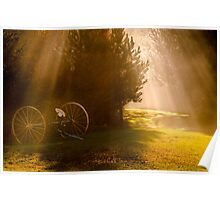 Magical window of light Poster