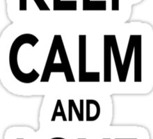 Keep Calm and Love Pokemon Sticker