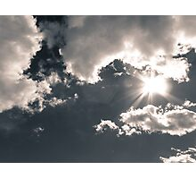 Cloudy midday sky Photographic Print