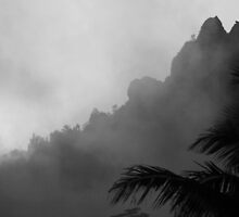 dark scene of mountain landscape by noegrr