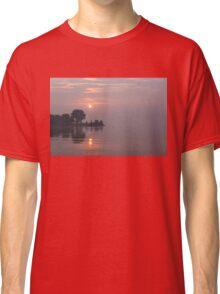 Rose Quartz Sunrise with Swans Classic T-Shirt