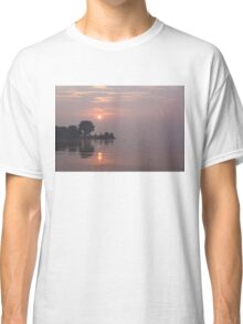 Rose Quartz Sunrise with Swans Classic T-Shirt