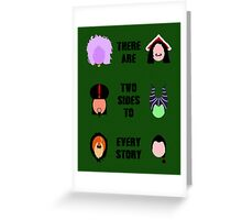 Twisted Villains (2) Greeting Card