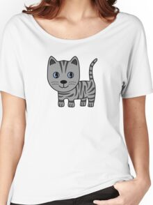 Grey Tabby Women's Relaxed Fit T-Shirt