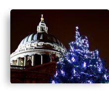 St Pauls Cathederal At Christmas 2 - HDR Canvas Print
