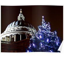 St Pauls Cathederal At Christmas 2 - HDR Poster