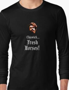 Black Adder - Brian Blessed Long Sleeve T-Shirt