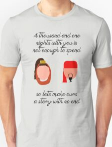 Jafar and Sherrezade-A Thousand and One Nights T-Shirt