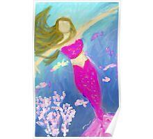 Mermaid Seeks the Surface Poster
