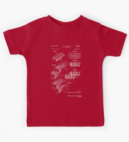 Lego Patent - Dark Background Kids Tee