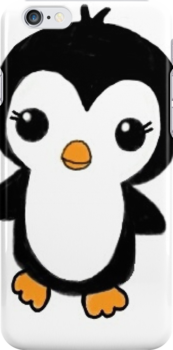 Chibi Penguin Phone Case by Mimi-The-Turtle