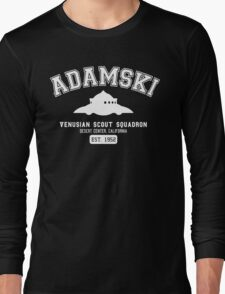 Adamski UFO Flying Saucer Squadron Long Sleeve T-Shirt