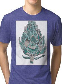Green Artichoke Flower  Tri-blend T-Shirt