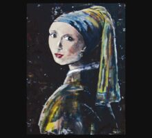 """The girl with the pearl earring"" (after Jan Vermeer) Kids Tee"