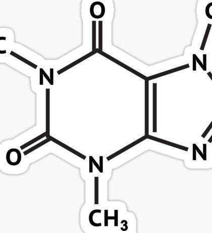 Caffeine molecule molecular structure Sticker
