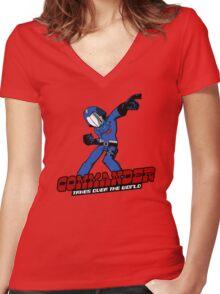 Commander Vs The World Women's Fitted V-Neck T-Shirt