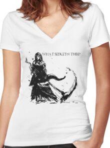 Priscilla Women's Fitted V-Neck T-Shirt