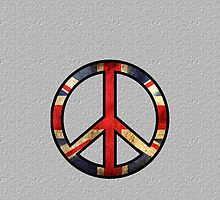 British - Great Britain - United Kingdom Peace  by iArt Designs
