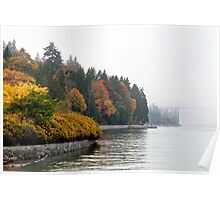 Fall Fog at Stanley Park Poster