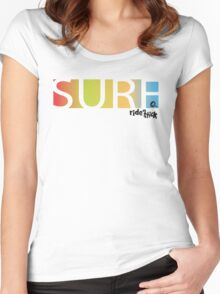 SURF rainbow box Women's Fitted Scoop T-Shirt