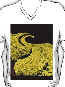 Yellow Flower Tide with Background Mist T-Shirt