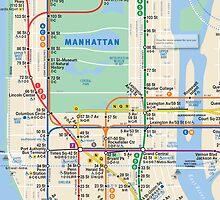 MTA Subway Map iPhone Case by Jen *