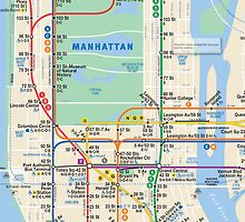MTA Subway Map iPhone Case by ~ *