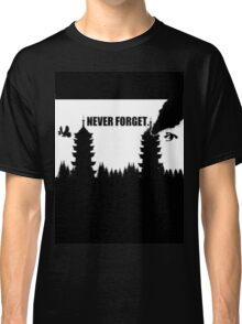 Never Forget-Burned Tower Classic T-Shirt