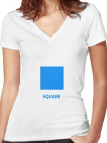 Square  Women's Fitted V-Neck T-Shirt