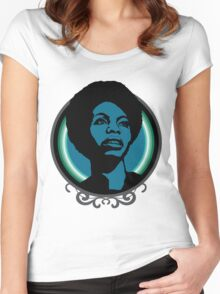 nina simone Women's Fitted Scoop T-Shirt