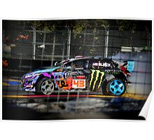 Ken Block Comic Book Poster