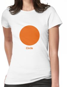 Simple Circle  Womens Fitted T-Shirt