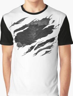 Batman BvS Logo Ripped Graphic T-Shirt