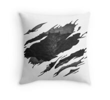 Batman BvS Logo Ripped Throw Pillow