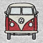 Red White Campervan Worn Well by Ra12