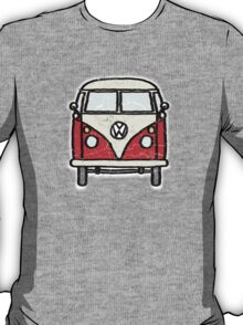Red White Campervan Worn Well T-Shirt