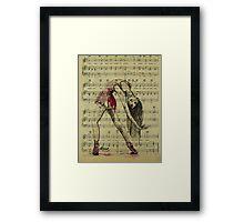 Vintage Dancer Framed Print