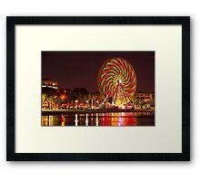 """Swirling In The Night"" Framed Print"