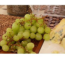 Grapes and Cheese! Photographic Print