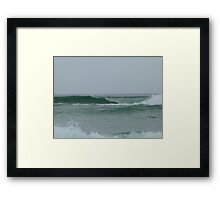 Perfect Waves at Greenmount Beach. Framed Print