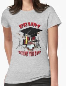 BRAINS behind the BAND Womens Fitted T-Shirt