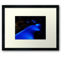 Blue Pool at Night. Framed Print
