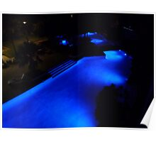 Blue Pool at Night. Poster
