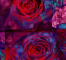 Rose Indigo Abstract by MQ20