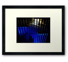 Blue Pool at Night with Lines! Framed Print